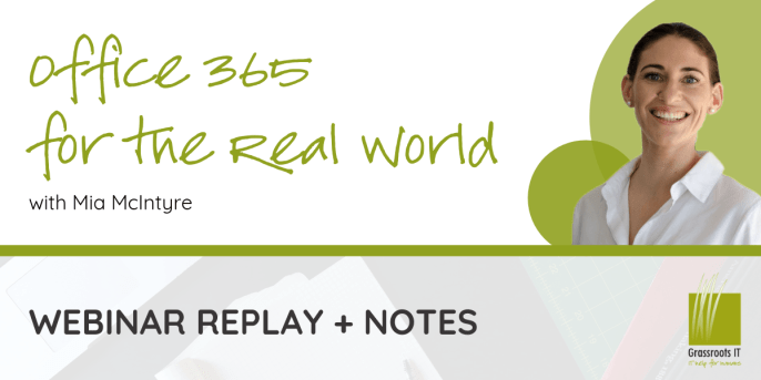 Office 365 for the Real World Webinar