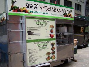 Vegetarisch eetkraam