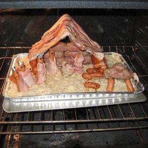 vlees kersstal