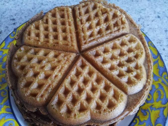 cornlemon heart waffles
