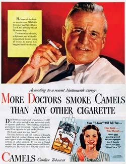reclame voor sigaretten, jaren 1930