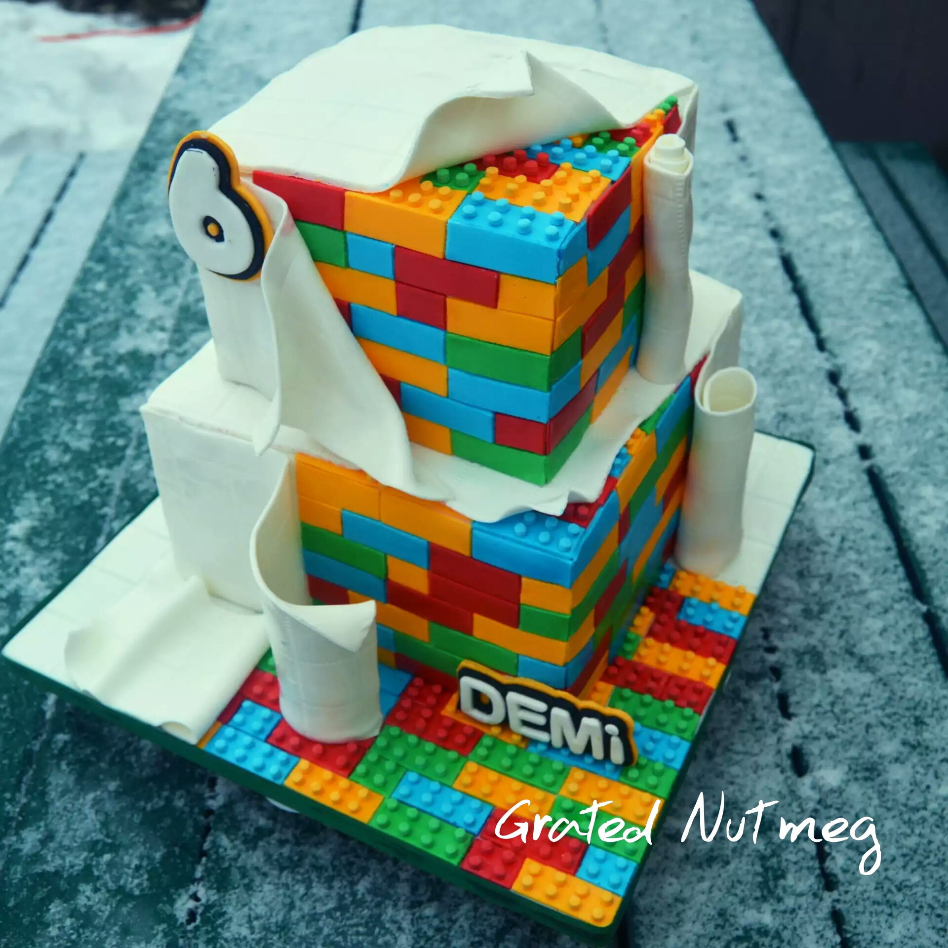 The Making Of A Lego Cake Grated Nutmeg
