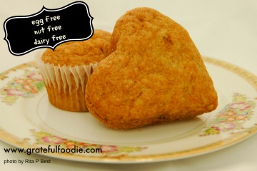 banana muffins nut free, dairy free, egg free