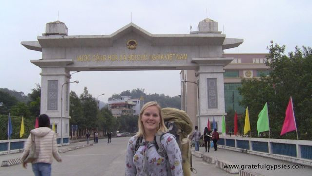 Walking from China into Vietnam... no big deal.