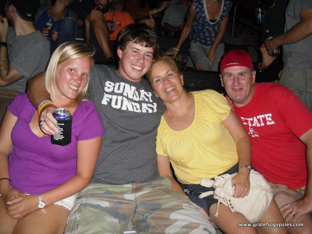 And raging a Phish show with family.