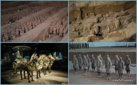 The famous Terracotta Warriors of Xi'an.