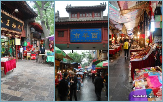 Walking around the Muslim quarter of Xi'an.