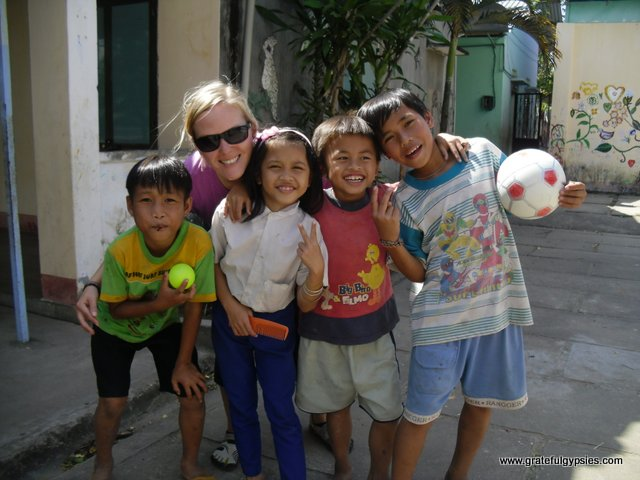 Smiling kids in the Kontum orphanage.