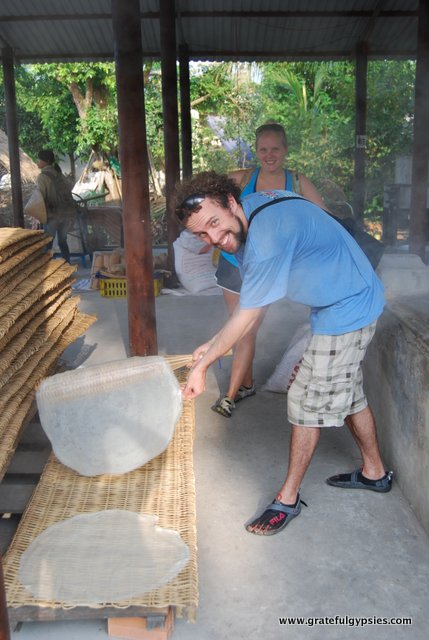 Clearly a natural at rice paper making.