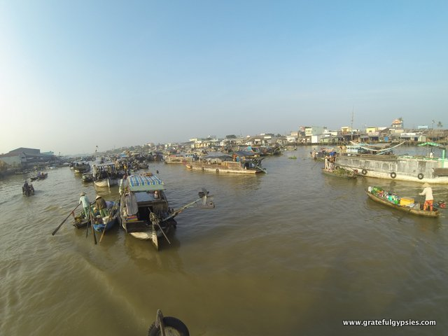 GoPro shot of the floating market in action.
