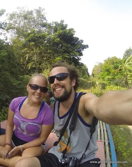 Bamboo Train selfie.
