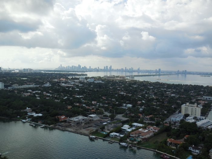Hello, Miami! The view from our host's 43rd floor condo.