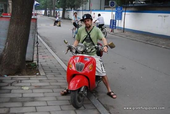 My cherished motorbike I had in BJ.