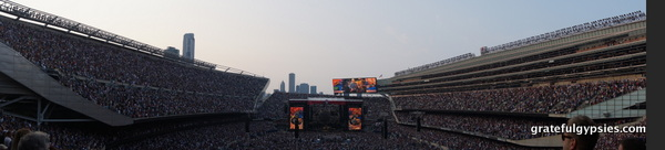 Panorama of Soldier Field on Night 1.