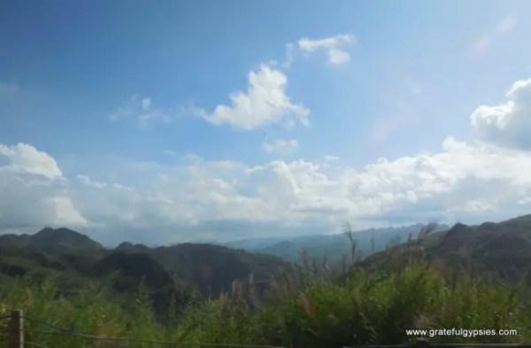 Mountains abound between Kunming and Anshun