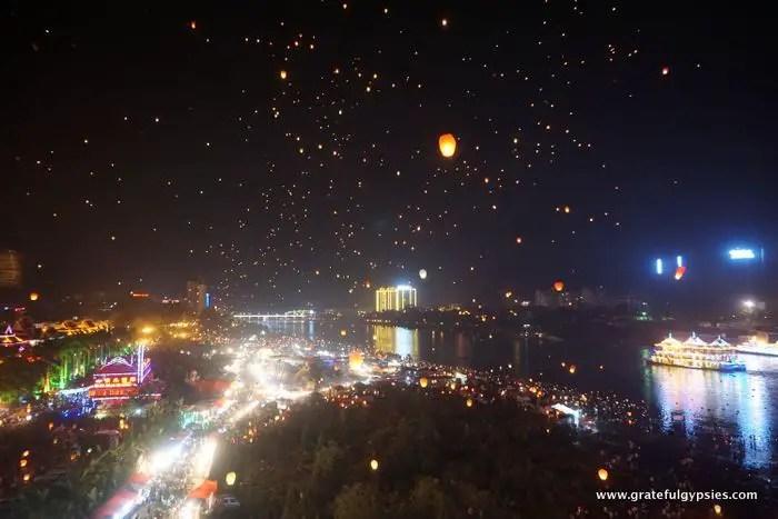 Chinese lanterns Jinghong