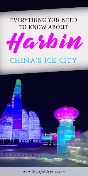 Harbin is China's winter wonderland city. Every year they host the Harbin Snow and Ice Festival where you can gaze upon neon-lit ice castles and intricately carved snow sculptures. Learn everything you need to know about visiting the Ice and Snow festival in Harbin and add it to your travel China list of things to do in China in winter. #traveltochina #chinatravelinspiration #chinatravel #harbin #travelguide