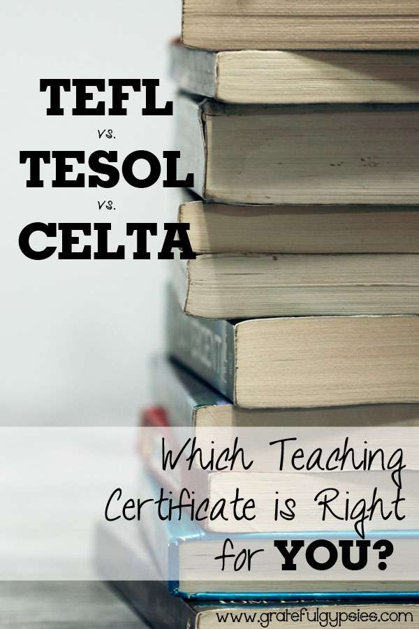 TEFL certificate | English teaching certification | TESOL | CELTA | teach abroad | teach ESL | teaching English as a second language