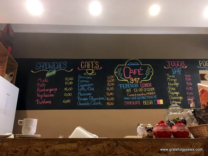 Best cafes in Lima Cafe 347