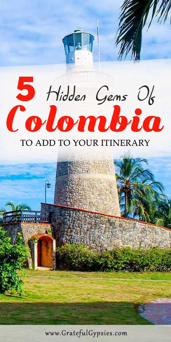 Traveling to Colombia is safer than ever. It's a beautiful country with a vibrant culture and super friendly people. There are so many places to visit in Colombia so this post compiles 5 hidden gems of Colombia that you don't know about but should be added to your itinerary. #ColombiaTravelInspiration #travelColombia #Colombiatravelideas