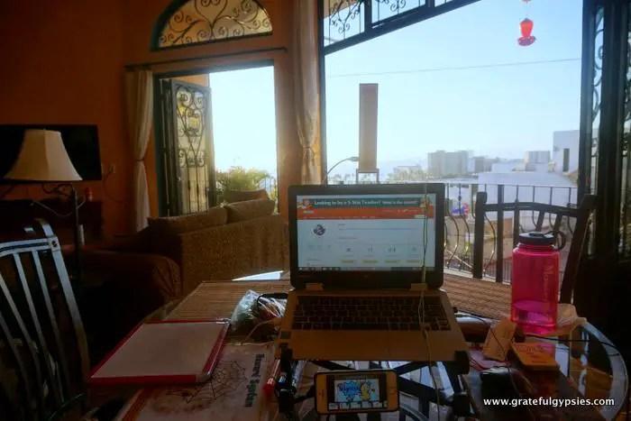 online English teacher classroom