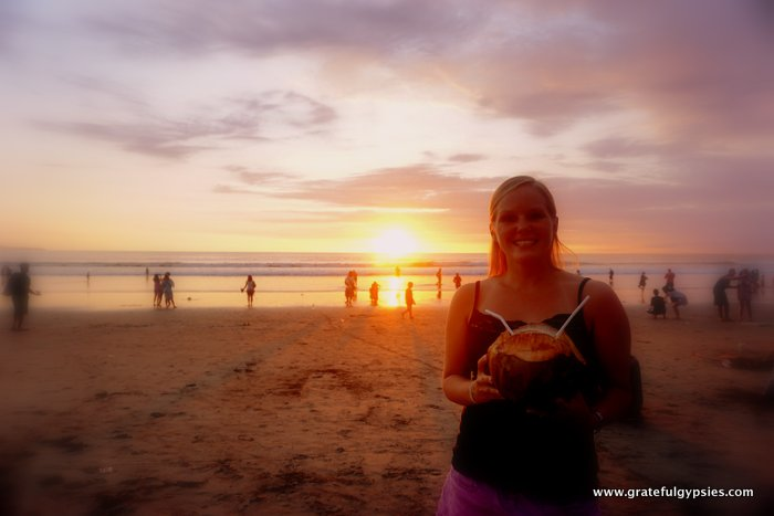 teaching English online Bali beach