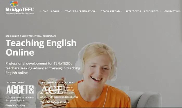 online tefl course BridgeTEFL