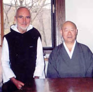 Br. David, Eido Shimano Roshi - autumn 2004
