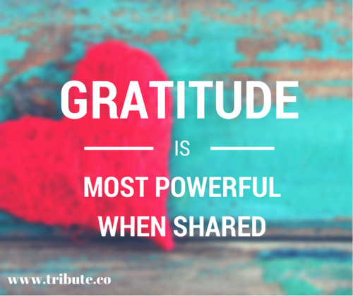 Gratitude is most powerful when Shared