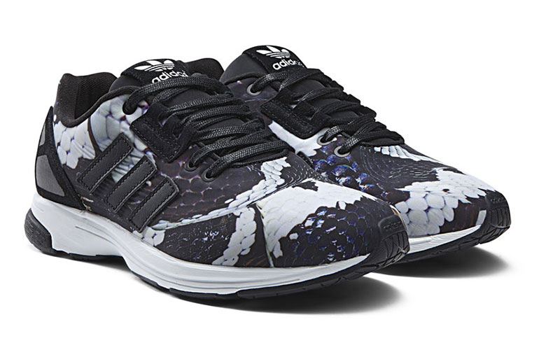 fe99d8582 The collection is now available starting from S 123 (US 90). You can shop  for the adidas Originals ZX FLUX Snake pack here.