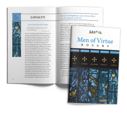 Men of Virtue Rosary cover and interior