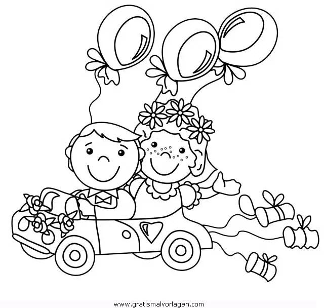 Hochzeitsauto 2 Gratis Malvorlage In Beliebt13 Diverse