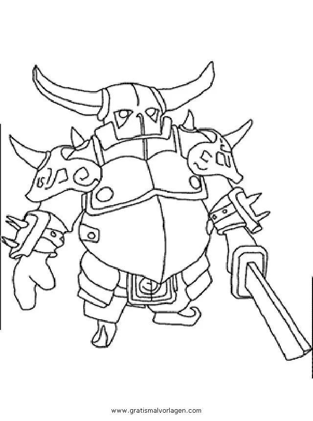 Clashofclans Pekka 001 Gratis Malvorlage In Clash Of Clans