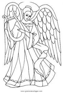 Engel 44 Gratis Malvorlage In Engel Weihnachten Ausmalen