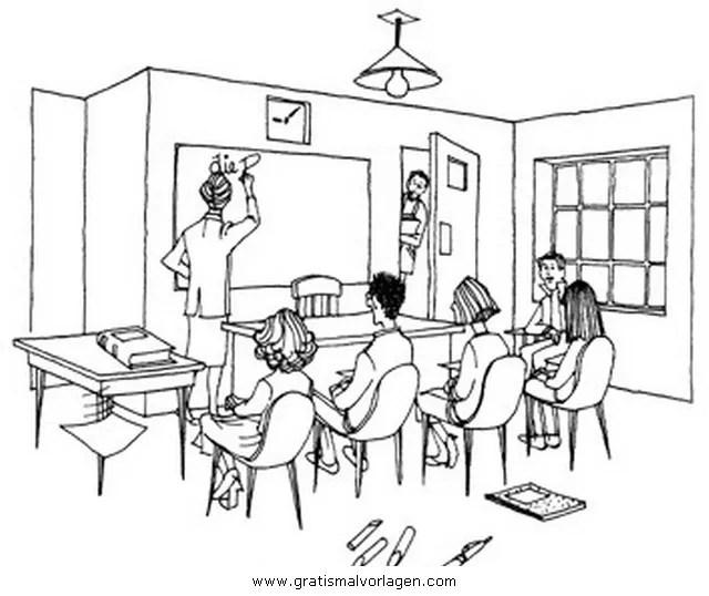 Klassenzimmer Gratis Malvorlage In Beliebt07 Diverse