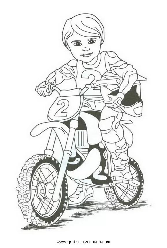 motorcross 5 gratis malvorlage in motorrad