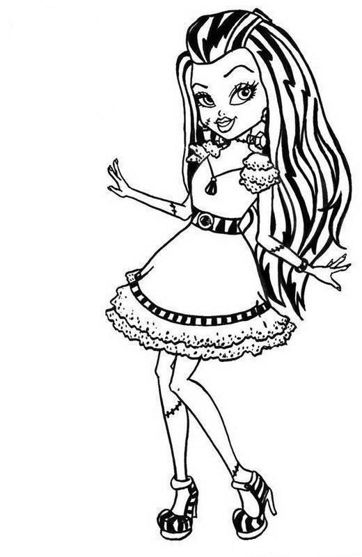 Descargue o imprima gratis inmediatamente desde el sitio. Descargar dibujos para colorear de Monster High, imprimir