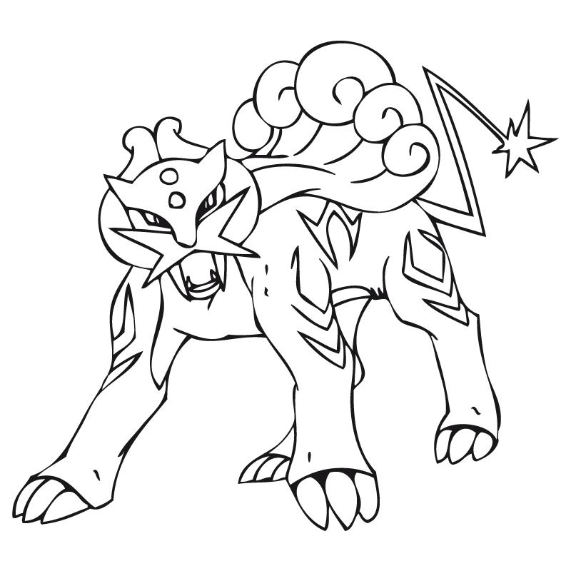 Se mueve principalmente sobre cuatro patas, pero puede caminar sobre dos. Dibujos para colorear de Pokemon