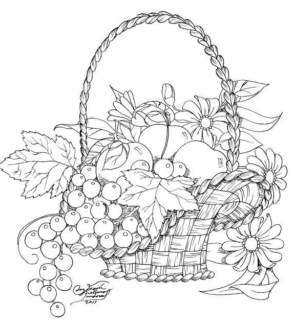 Dibujos Para Colorear En Fruteros De Frutas