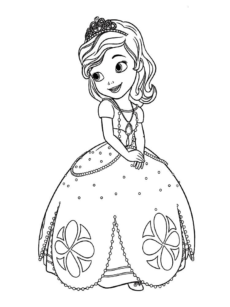 Dibujos Para Colorear E Imprimir Princesa Sofia