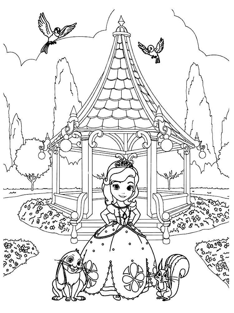 Entre na magia imprimindo e colorindo o desenho da sereia com seu unicórnio! Dibujos de La Princesa Sofia para colorear, dibujos disney