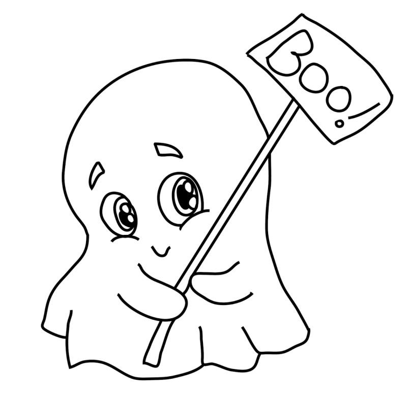 best Dibujos Tiernos Para Colorear De Halloween image collection