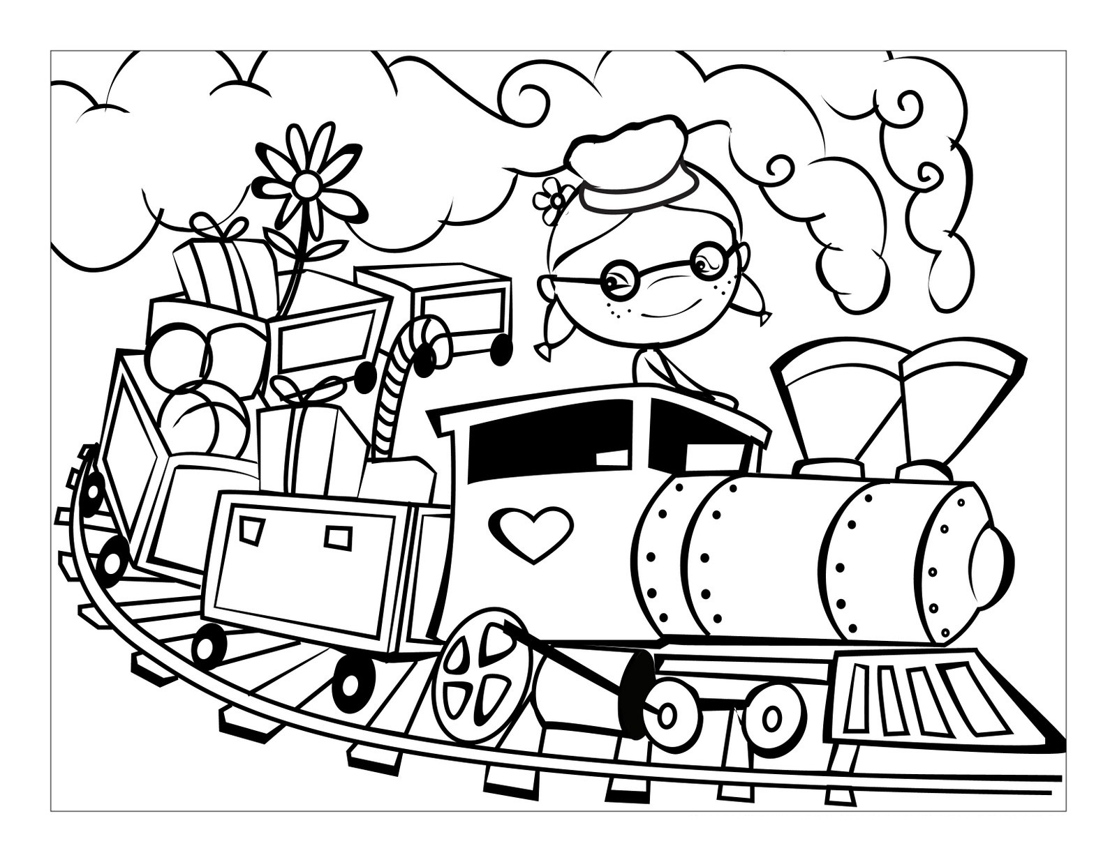 Dibujos De Trenes Para Colorear Pintar E Imprimir Gratis