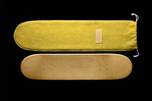 Leather-skateboard