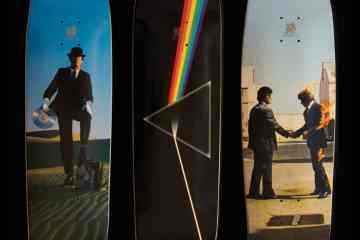 Tablas de skate con el arte de Pink Floyd
