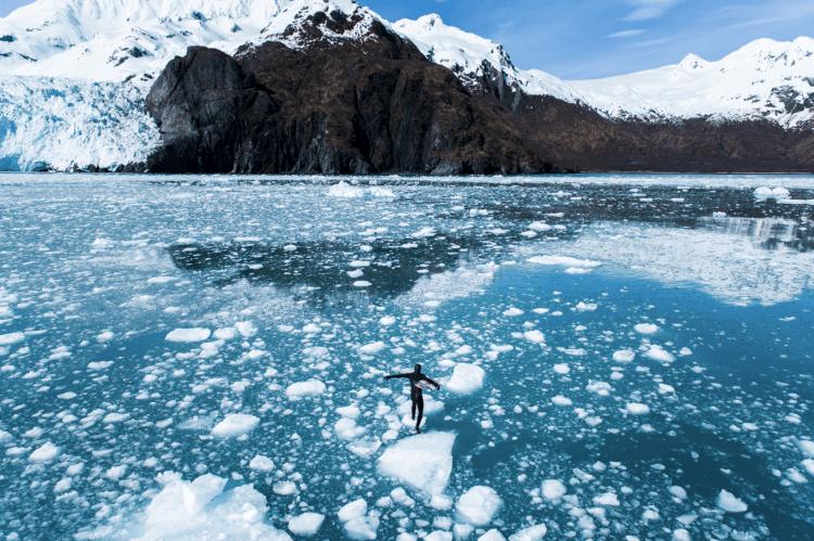 Hielo y surfing en Alaska