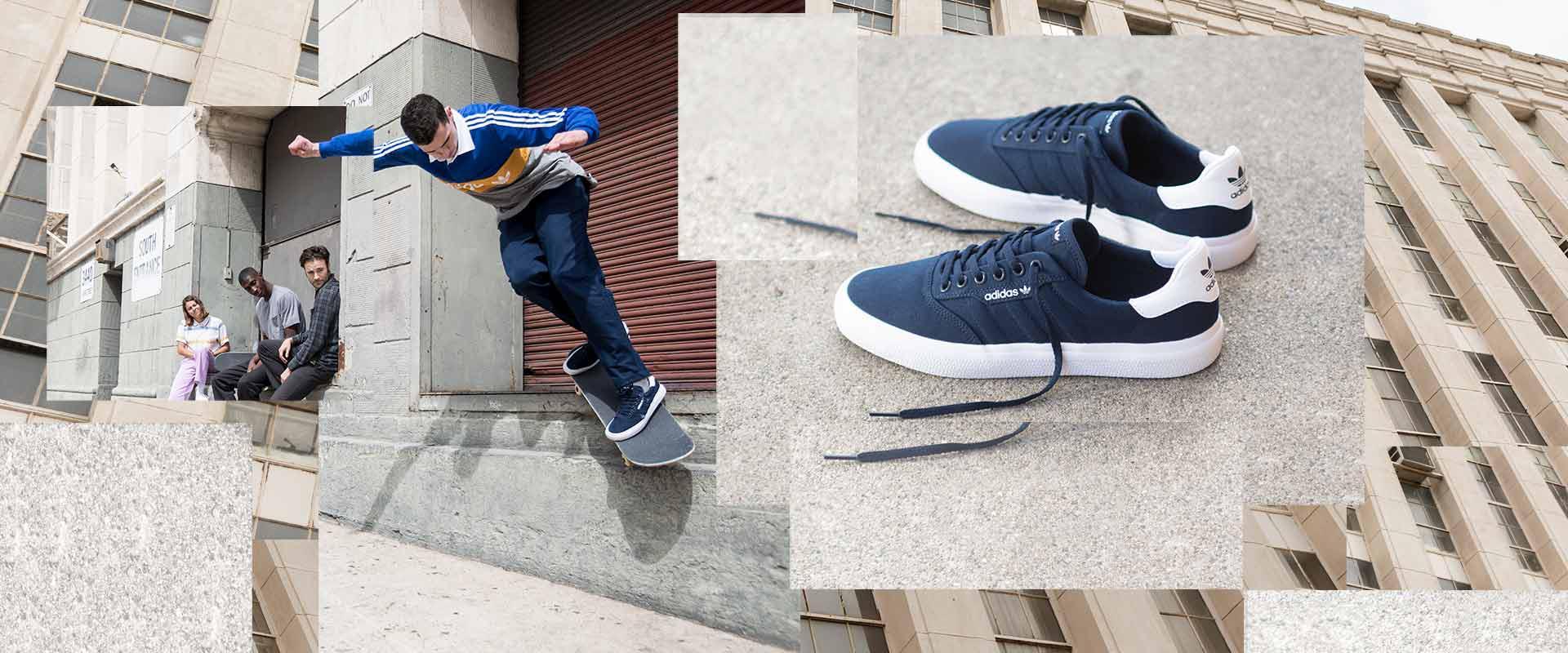 ddc2aa8d4c ... la 3MC mezcla elementos esenciales y características de desempeño del enriquecido  archivo de adidas y de sus modernas zapatillas de skate