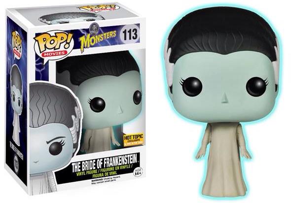 Funko Pop! Movies #113 Universal Monsters Bride of Frankenstein [Glow-in-the-Dark]