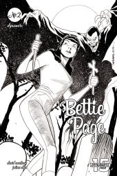 Dynamite Entertainment's Bettie Page: Unbound issue #2 cover C by David Williams (black & white).