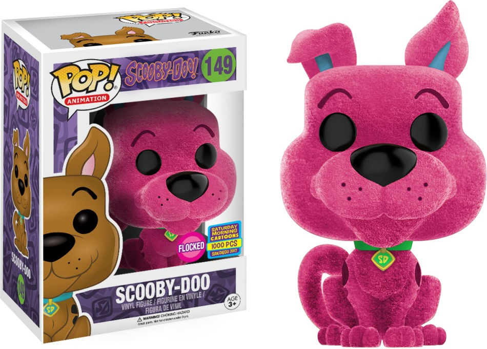 Funko Pop! Animation #149 Scooby-Doo Scooby-Doo [Flocked, Pink]